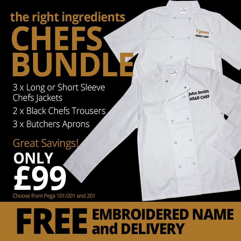 Chefs Staff Uniform Combo Deal With Logo