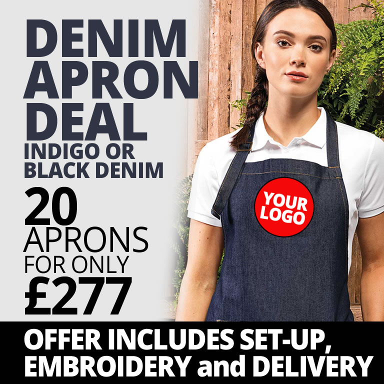 Denim Apron Hospitality Staff Uniform Deal