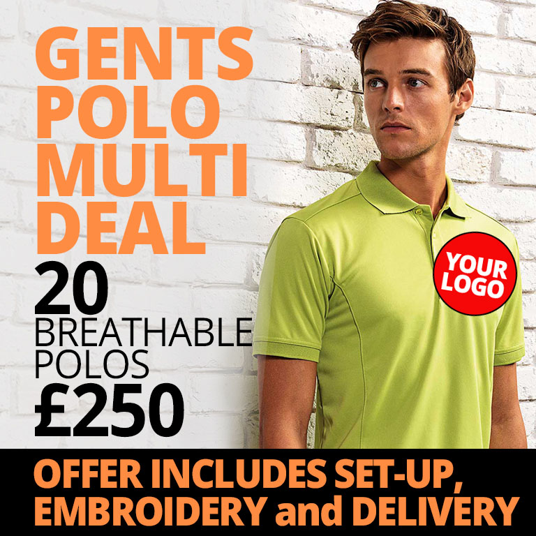 Gents Polo Shirt Hospitality Staff Uniform Deal