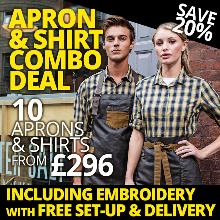 Shirt & Apron Combo Deal With Logo