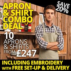 Shirt & Apron Deal - 10 for £247