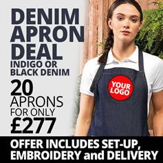 Denim Apron Deal - 20 for £277